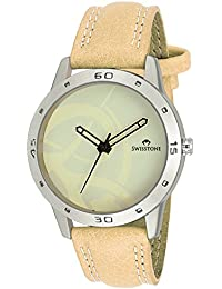 Swisstone IVY061 Tan Leather Strap Stylish Wrist Watch For Men