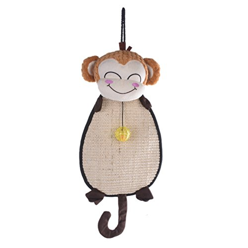 PER Tiragraffi per Gatto Tiragraffi in Sisal a Forma di Ratto e Scimmia Giocattolo per I Gatti(Scimmia)