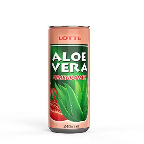 Aloe Vera Pomegranate (Granatapfel, 30x0.24L), Aloe Vera Saft, Aloe Vera Getränk aus der Aloe Vera Pflanze, Aloe Vera Gel
