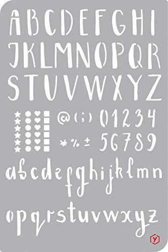 Schablone Vorlage Bullet Journal Alphabet Buchstaben 18x12cm Schrift Kalender selber zeichnen -