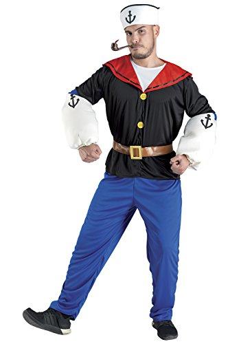 Chiber - Seemann Comic Held Kostüm für Herren (Popeye Und Olive Kostüm)