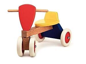 Egmont Toys- Triciclo, Color Rojo, Azul, amarill y Madera (E510450)