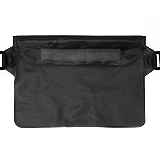 Artistic9 Watertight Sealed Underwater Dry Bag,Waterproof Pouch Bag Case Waist Belt Strap for Beach Swim Boating Kayaking Hiking, Etc (Black)