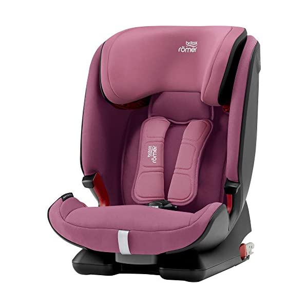 Britax Römer ADVANSAFIX IV M Group 1-2-3 (9-36KG) Car Seat- Wine Rose Britax Römer Our patented pivot link isofix system directs the force first downward into the vehicle seat, and then forward more gently - greatly reducing the risk of head and neck injury for your child We believe that a 5-point harness is the safest way to secure your child in a car seat because it keeps your child safe and tight in the seat's protective shell Soft neoprene performance chest pads fit comfortably on your child's chest. They help reduce your child's movement in the event of a collision, and add even greater comfort to the 5-point harness 1
