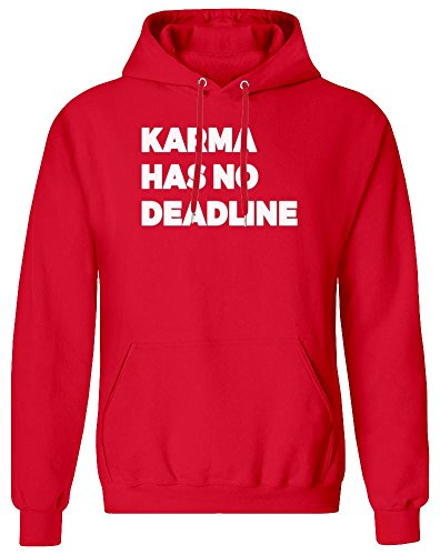 Karma Has No Deadline Hoodie Sweatshirt for Men - 80% Cotton, 20% Polyester - High Quality DTG Printing - Custom Printed Clothing for Men