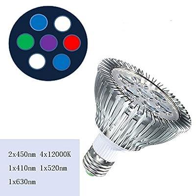WML-LIGHT 21W Plein Spectre de l'aquarium LED récif corallien de la lumière Par38 de Corail utilisé par la Plante E27 de l'aquarium LED Aquarium