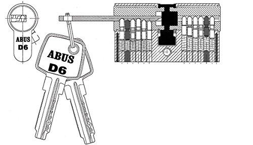 ABUS Tür-Zylinder/Schloss mit 5 Schlüssel - 3