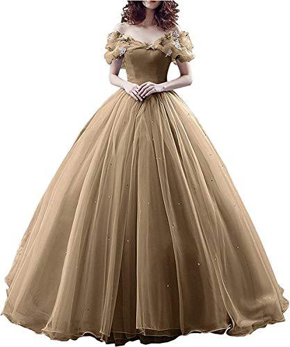 7f939ee22fc6 Vestito da Donna Principessa Abito da Sera per Cosplay in Organza con Lacci  sulla Schiena Vestito