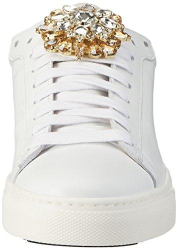 Stokton 655-d, Scarpe da Ginnastica Basse Donna Bianco (Bianco+oro)