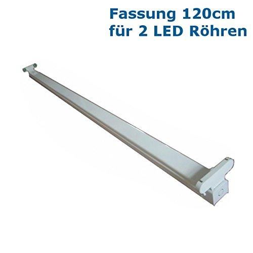 Doppelfassung / Halterung für zwei 120cm LED Röhren (Halterung ist aus Metall)
