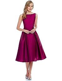 Purva Art Womens Wine Tapeta Stitched Dress / Tunic For Girls (PA-1512 _Stitched_Wine_JFW_122)