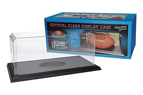 Pioneer Plastics hochwertige Vitrine aus Acryl zum Sammeln und Verstauen eines Footballs, schwarzer Boden