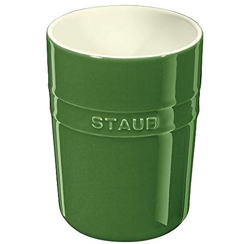 Staub Utensil Holder w/ Silicone Pad, Basil, 1 qt. - Basil by Staub