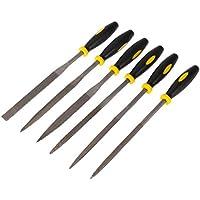 UEETEK Archivo de madera de 6 piezas Mini herramientas de archivo de Rasp de madera con mango cómodo maneja,140x3mm