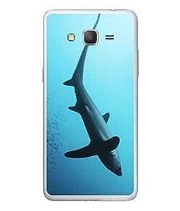 PrintVisa Designer Back Case Cover for Samsung Galaxy On5 (2015) :: Samsung Galaxy On 5 G500Fy (2015) (Blue Marine Nature Danger Animal Diving Underwater Natural)