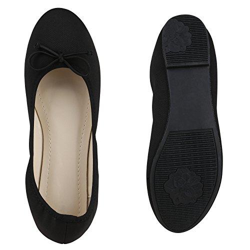 Klassische Damen Ballerinas | Glitzer Ballerina Schuhe Lack | Party Schuhe Zeitschuhe Schleifen | Basic Slipper Flats | Freizeitschuhe Hochzeit Abiball Schwarz Creme Nude