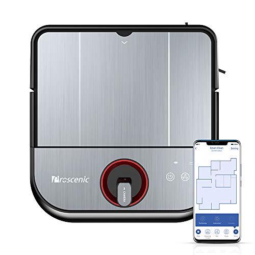 Robot Aspirapolvere a Navigazione Visiva Proscenic GT320, Robotino lavapavimenti 2-in-1 con App e...