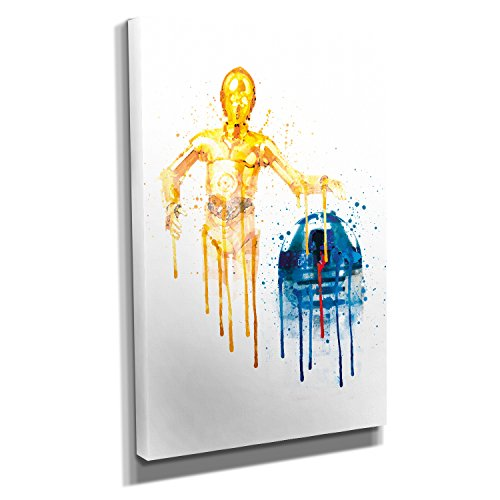 Preisvergleich Produktbild Melting Droids - Kunstdruck auf Leinwand - Format: 20 x 30 cm