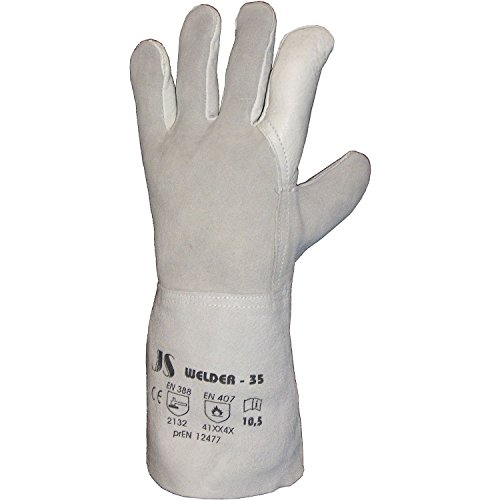 Preisvergleich Produktbild STAFFL JOHANN Schweißerhandschuh Welder 1 Master EN388/EN407 Kategorie II, große 10.5, Länge 35 cm, 080114