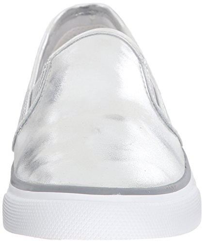 Sperry Seaside Metallic, Scarpe da Ginnastica Donna Silver