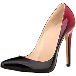 Zhuhaixmy Frau Gradient Farbe Party Club High Heels Shoes Stilettos Spitz Pumpen Schuhe