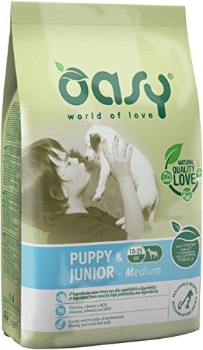 Oasy Alimento Secco per Cane Puppy & Junior Medium 12Kg, Multicolore, Unica