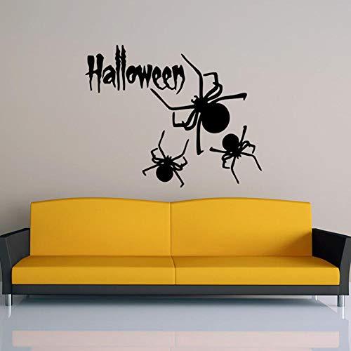 Dekoration PVC grün Halloween Spinne Kunst Wandaufkleber Wohnzimmer Schlafzimmer Dekoration Aufkleber Größe 57x36cm