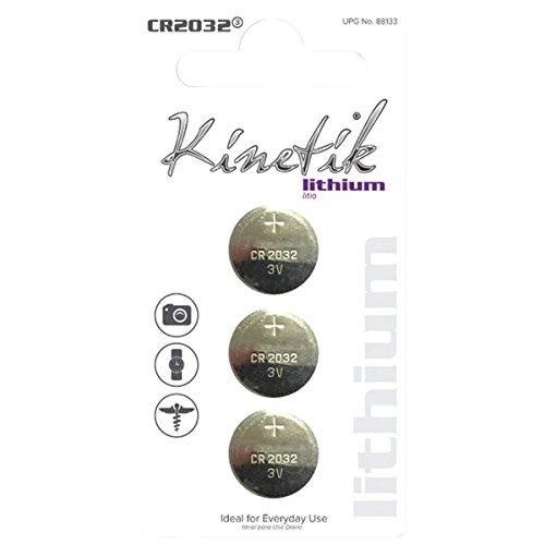 Kinetik 88134Lithium Batterien 3Pack (Batterie Kinetik)