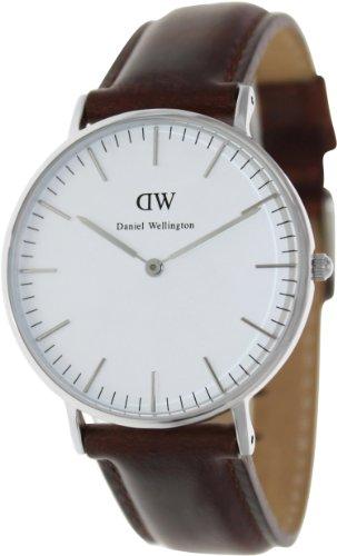 Daniel Wellington Men's St. Andrews 0607DW Brown Leather Quartz Watch with White Dial
