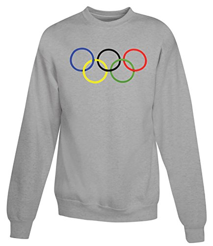 Billion Group   Rio Rings   Olympic Games Series   Women's Unisex Sweatshirt Gris