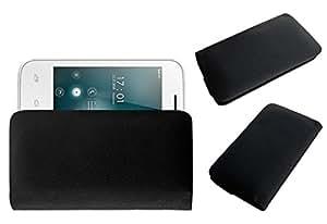 ACM Rich Leather Soft Case for Videocon Infinium Z30 Aire Mobile Handpouch Cover Carry Black