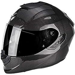 SCORPION Casque moto EXO 1400 AIR CARBON Solid, Noir, L