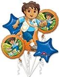 GO DIEGO Go JAG Birthday PARTY (5) Balloons Balloon BOUQUET Foil MYLAR Kit SET by LGP
