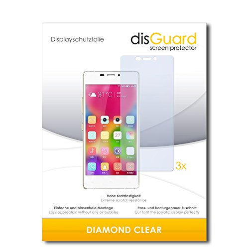 3 x disGuard® Schutzfolie Gionee Elife S5.1 Bildschirmschutz Folie
