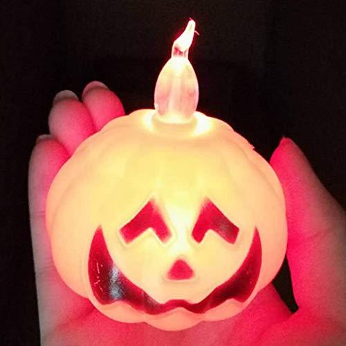 htrdjhrjy Halloween Kürbis/Skelett LED Nachtlicht Halloween Dekoration für Zuhause - kürbis