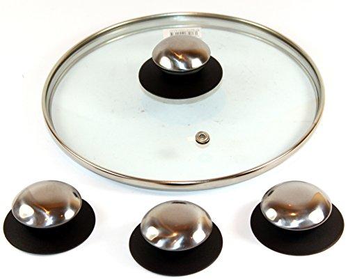 K&B Vertrieb Pot à Couvercle Poignées Poignées de Rechange - K & B Distribution de poignée Couvercle Couvercle Bouton Bouton Couvercle de poêle 337B 12 Stück