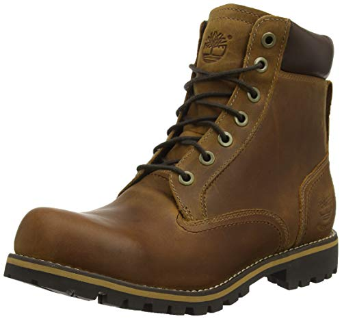 "Timberland - - Männer Robuste 6""Plain Toe Waterproof Boot, 47.5 2E EU, Brown W/Green"