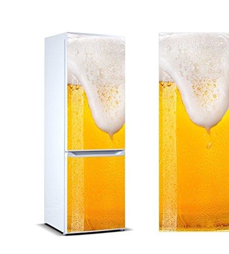 Oedim Vinyl Stickers Schäumendes Bier für Kühlschrank. | Kühlschrank Aufkleber | Verschiedene Maße 185x60cm| Klebstoffbeständig und einfache Anwendung | Stilvoller Design-dekorativer