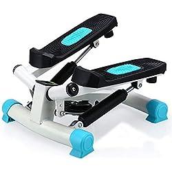 Máquina de Step, Entrenamiento Stepper Up-Down Stepper, Home Trainer, Mini Stepper con Pantalla LED (Color : Azul)