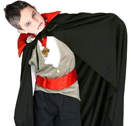 Fancy Me Jungen oder Mädchen Böse Unheimlich Rot & Schwarz Vampir Halloween Tv Buch Film Kapuze Cape Mantel Kostüm Kleid Outfit