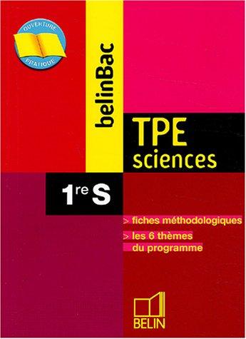 TPE Sciences 1ère S
