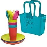 Koziol ALICE PICKNICK 21-teilig Picknickset Kunststoff Solid Türkis 0839001