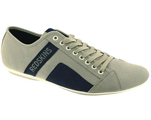 Redskins Bank, Scarpe da ginnastica da uomo, colore: grigio, Grigio (grigio), 42