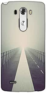 Snoogg Into The Fog Designer Protective Back Case Cover For LG G3