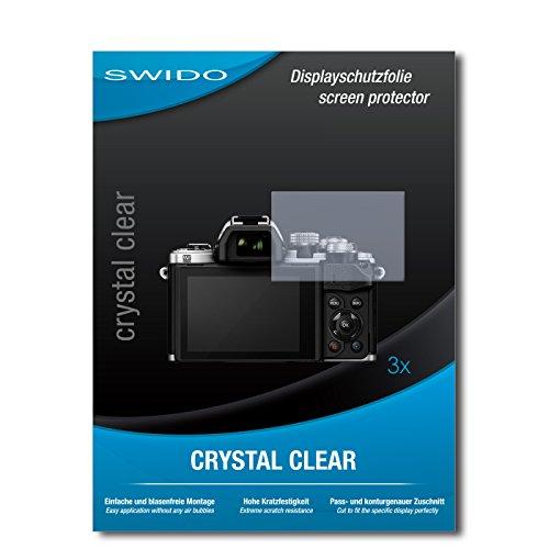 Galleria fotografica 3 x SWIDO® Pellicola Protettiva Olympus OM-D E-M10 Mark II Screen Protector Pellicola Protettiva Film CrystalClear invisibile