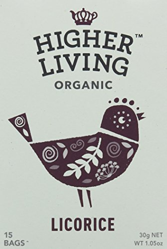 Higher Living Licorice Organic Enveloped Tea (Pack of 4, Total 60 Bags)