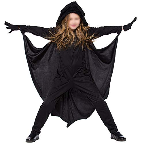 ShiyiUP Fledermaus Kostüm Kinder Flügel Jumpsuit Overall Mädchen -