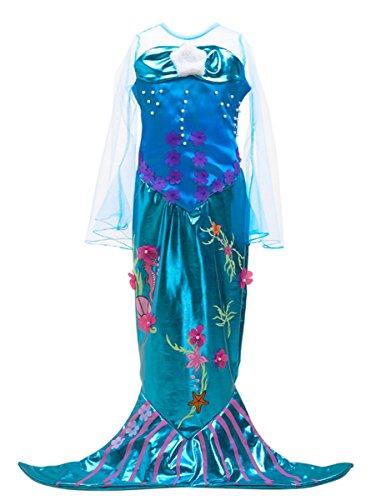 LCXYYY Mädchen Märchen Prinzessin Meerjungfrau Kostüm Karneval Verkleidung -