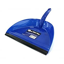 Kole Wide Mouth Super Dust Pan with Serrated Teeth (Blue)