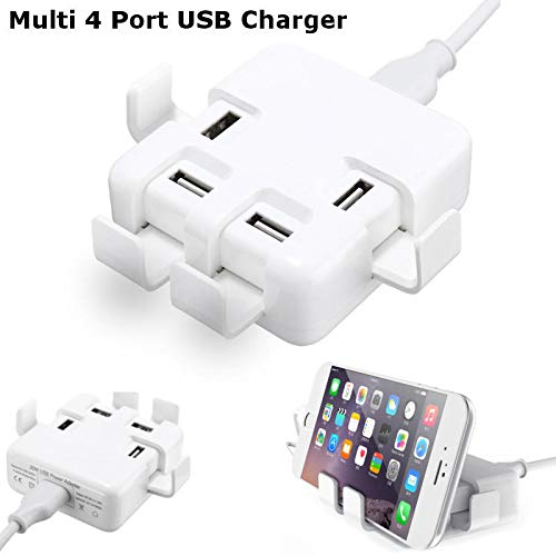 GIlH DC 5V/8A Quick Charge 4 Port USB Wall Charger Power Adapter For iPhone 6s Samsung -